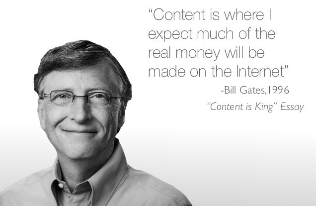 Bill Gates over online content